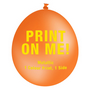 30cm Metallic Balloon - Neck Up - Orange