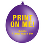 30cm Metallic Balloon - Neck Up - Purple