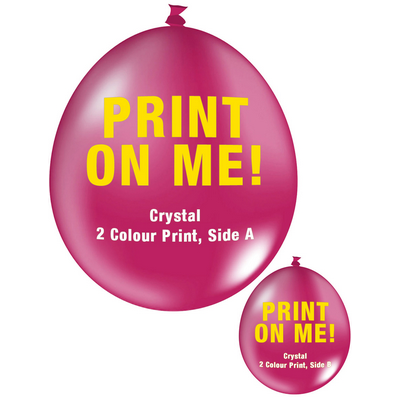 Picture of 30cm Crystal Balloon - Neck Up - Magenta