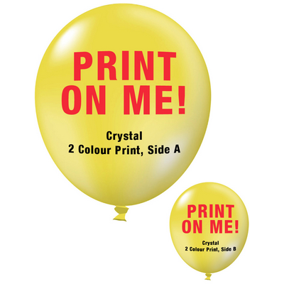 Picture of 30cm Crystal Balloon - Neck Down - YellowBalloons