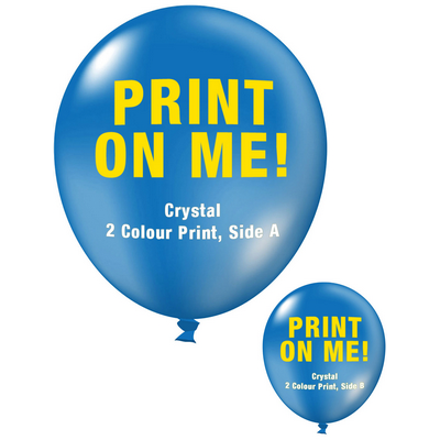 Picture of 30cm Crystal Balloon - Neck Down - Dark