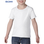 Gildan Heavy Cotton Toddler T-Shirt White100% Cotton Preshrunk Jersey Knit (Fibre