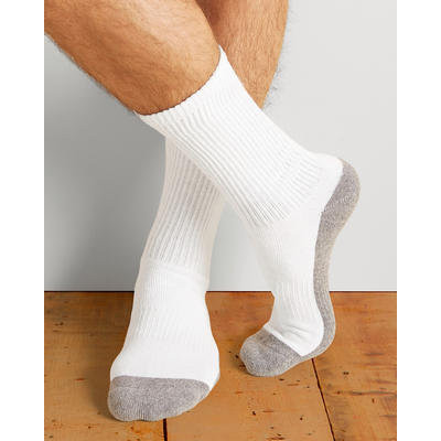 Picture of Gildan Platinum Men's Crew Socks White