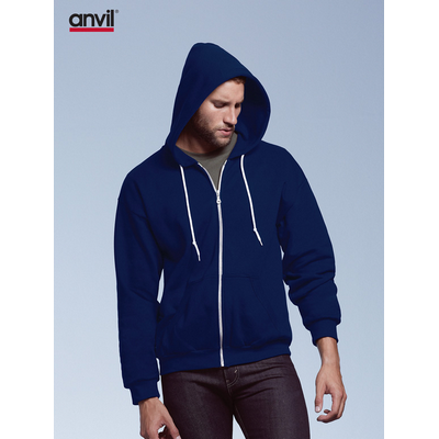Picture of Anvil Adult Full-Zip Hooded Fleece Colou