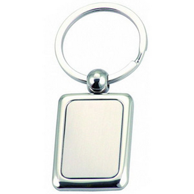 Picture of Rectangular Coloured Plated Keyring