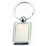 Rectangular Coloured Plated Keyring