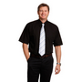 Mens Poplin Short Sleeve Business Shirt