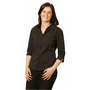 Ladies Pin Stripe 3/4 Sleeve Shirt