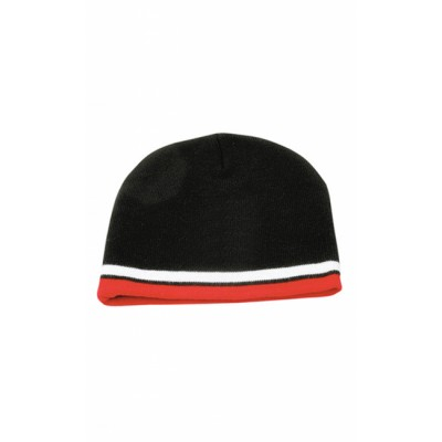 Picture of Knitted Contrast Stripes Beanie
