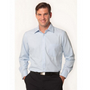 Mens Mini Herringbone Long Sleeve Shirt