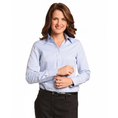 Picture of Ladies Pinpoint Oxford Long Sleeve Shirt