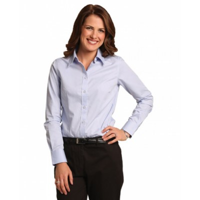 Picture of Ladies CVC Oxford Long Sleeve Shirt