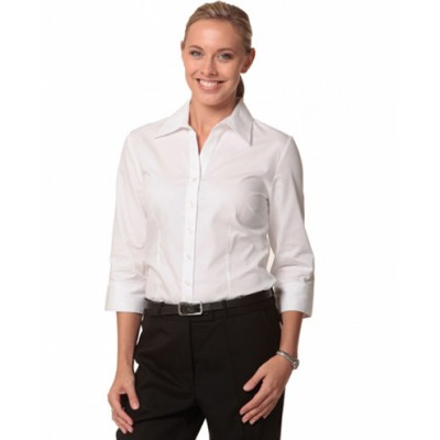 Picture of Ladies CVC Oxford 3/4 Sleeve Shirt