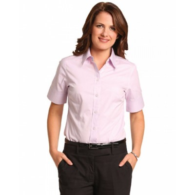 Picture of Ladies CVC Oxford Short Sleeve Shirt