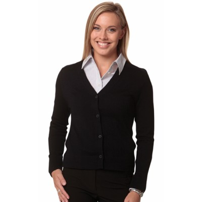 Picture of Ladies V-Neck Long Sleeves Cardigan