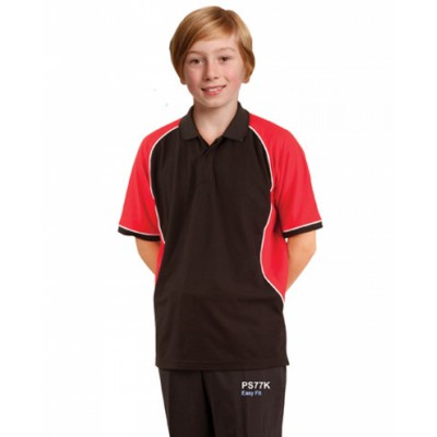 Picture of Kids TrueDry Tri-colour Short Sleeve Piq