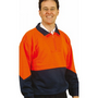 Mens High Visibility Long Sleeve Fleecy