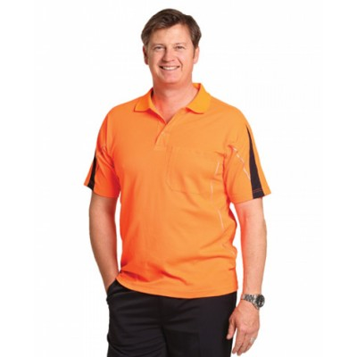 Picture of Mens TrueDry Hi-Vis Polo with Reflective