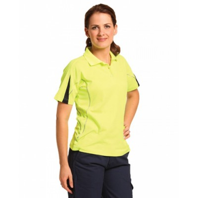 Picture of Ladies TrueDry Hi-Vis Polo with Reflecti