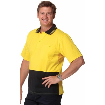 Picture of Mens Cotton Jersey Safety Polo