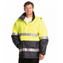 Hi-Vis Long Line Safety Jacket With Pola