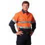 High Visibility Cotton Twill Safety Shir