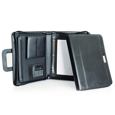 Picture of Genuine Leather Compendium w/Retractable