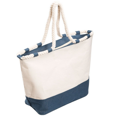 Picture of Zippered Laminated Canvas Tote Bag
