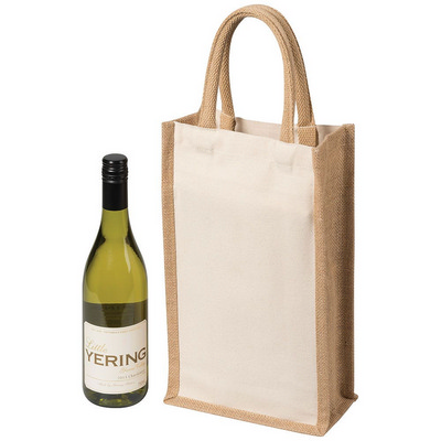 Picture of Two Bottle Canvas Wine Carrier