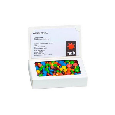 Picture of Bizcard Box with 50g M&M bag