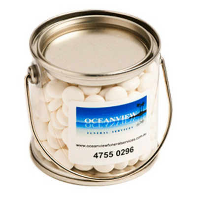 Picture of Small PVC Bucket Filled with Mints