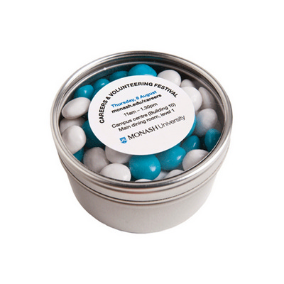Picture of Small Round Acrylic Window Tin Fillled w