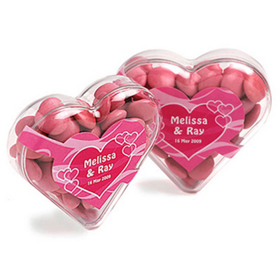 Picture of Acrylic Heart Filled with Choc Beans 50G