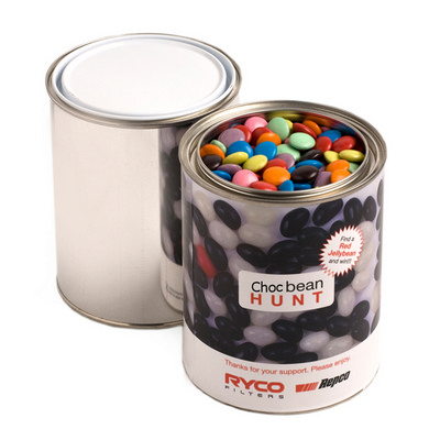 Picture of Paint Tin Filled with Choc Beans 1Kg