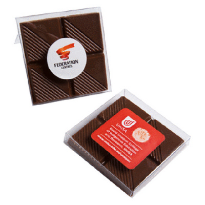 Picture of Chocolate block in PVC Stand Up Box