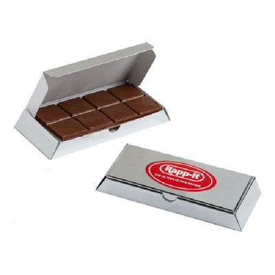Picture of Silver box with Milk Chocolate Bar