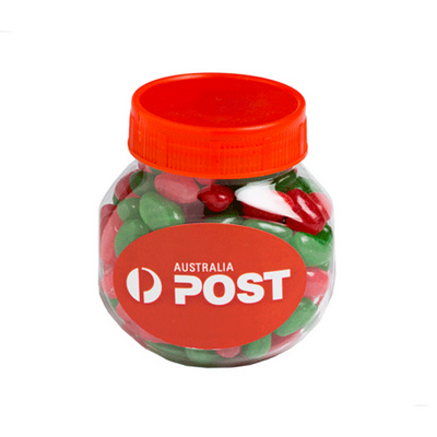 Picture of Plastic Jar Filled With Christmas Jelly