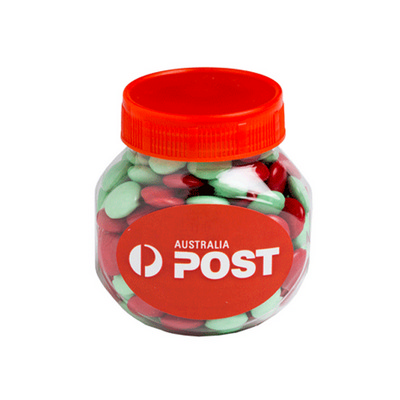 Picture of Plastic Jar Filled With Christmas Choc B
