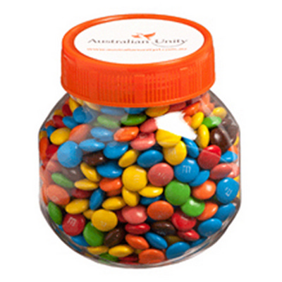 Picture of Plastic Jar Filled with M&Ms 145G