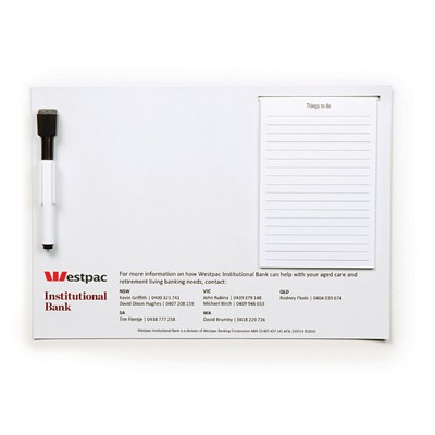Picture of A4 Magnetic Whiteboard with Notepad