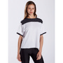 WOMEN'S BOXY YOLK RECYCLED TEE - White