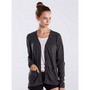 WOMEN'S LONG SLEEVE TRI-BLEND CARDIGAN