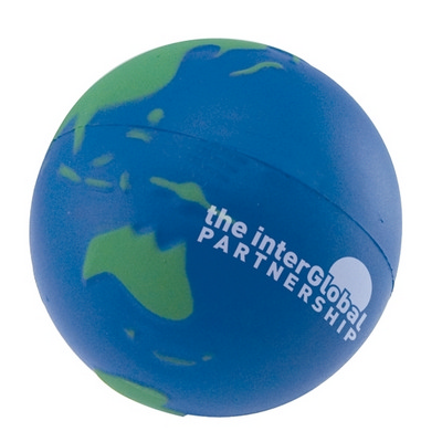 Picture of Stress Earth Ball, Blue Green