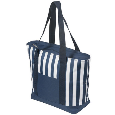 Picture of 17.5 Litre Zippered Striped Beach Cooler