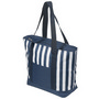 17.5 Litre Zippered Striped Beach Cooler