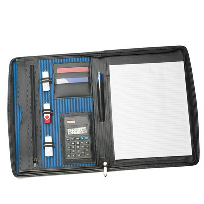 Picture of A4 Zippered Compendium with Calculator