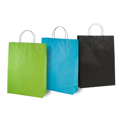 Picture of Medium Sized Coloured Kraft Bag with pap