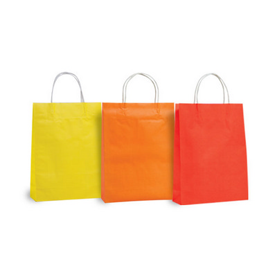 Picture of Small Sized Coloured Kraft Bag with pape