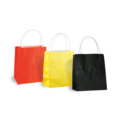 Picture of Toddler Sized Coloured Kraft Bag with pa