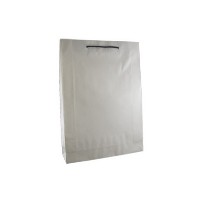 Picture of Medium Deluxe White Kraft Paper Bag Prin